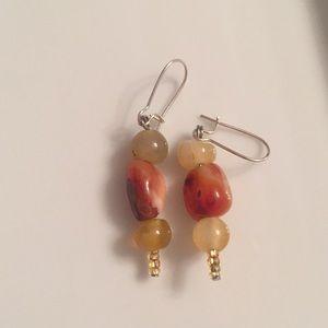 Dangly stone earrings